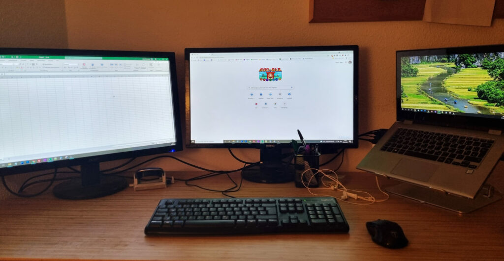 Zwei Bildschirme an Notebook mit USB anschließen