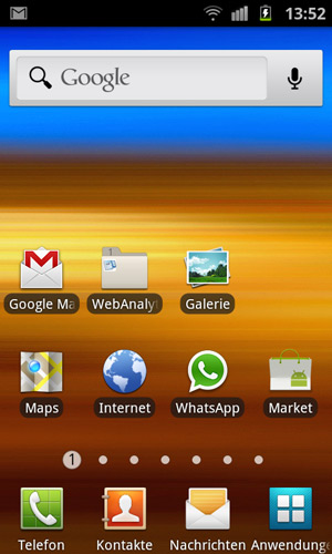 Android Screenshot Homescreen