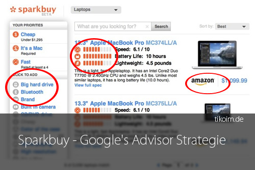 Sparkbuy – Google's Advisor Strategie