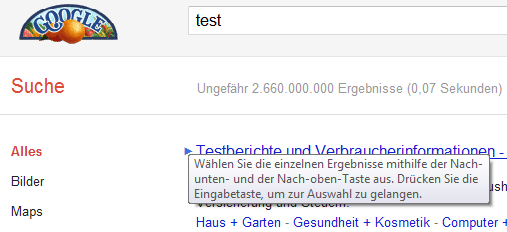 Google Pfeil - deutsche Übersetzung