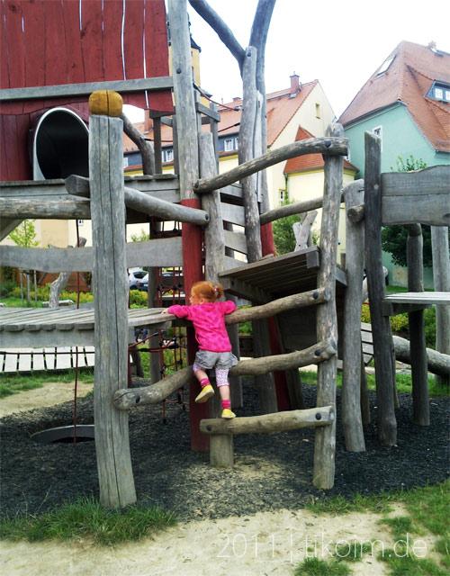 Foto auf dem Spielplatz