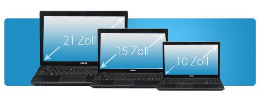 Notebook Display Größe - 21 Zoll, 15 Zoll oder 10 Zoll?