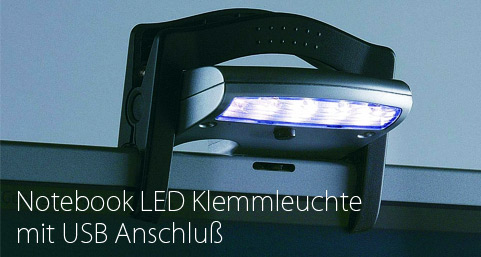 Notebook LED Klemmleuchte