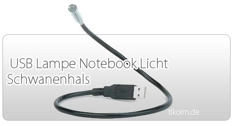 USB  Lampe Schwanenhals