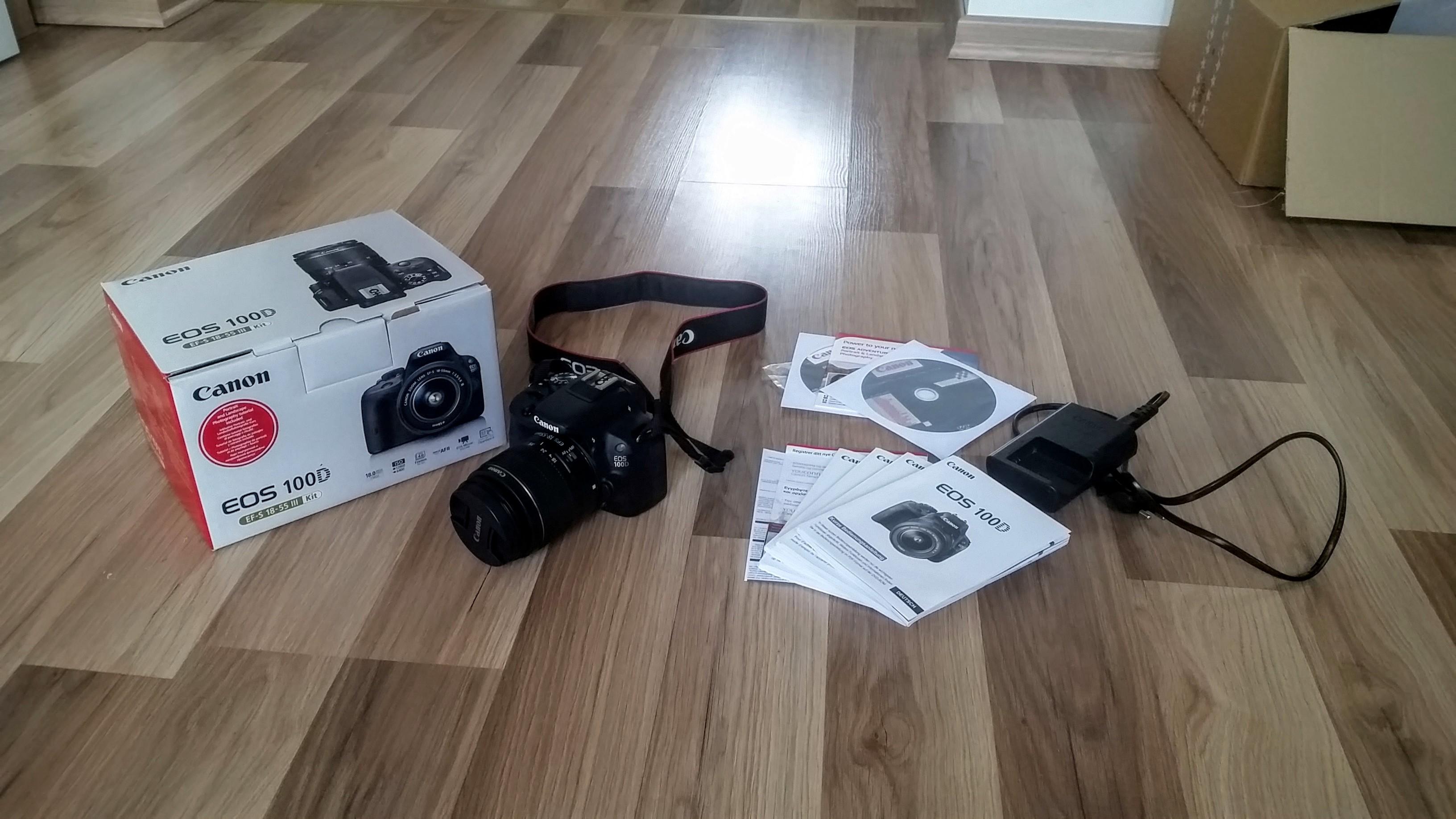 Canon 100D Komplett Set
