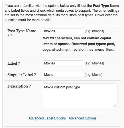 Custom Post Type Plugin Screenshot