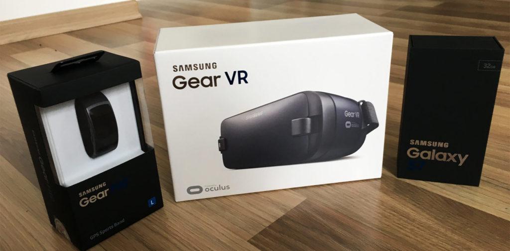 Samsung Gear Bundle S7, Fit 2 und VR Brille