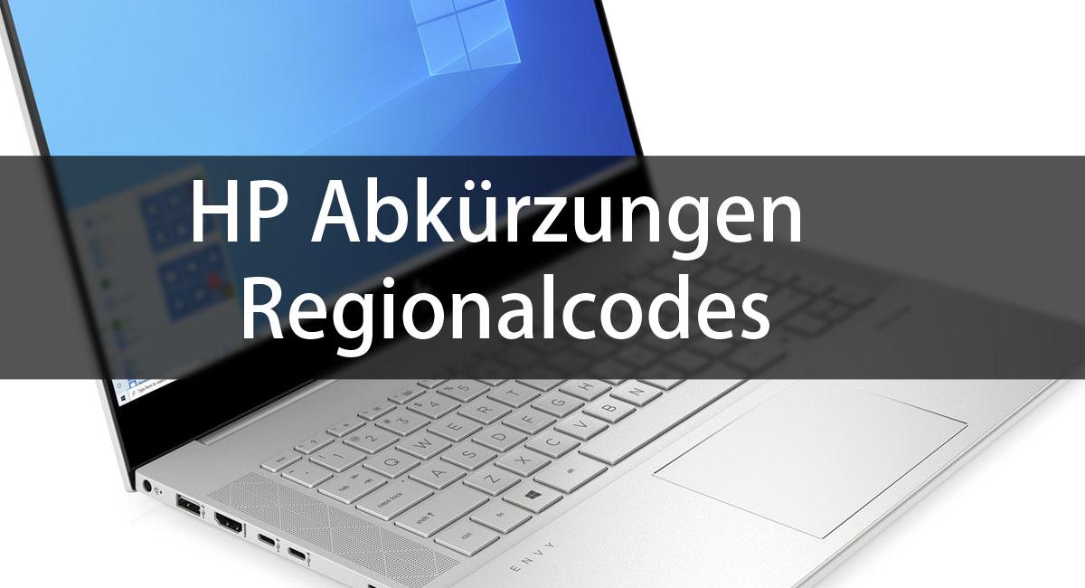 HP Abkürzungen für Notebooks, Drucker und PCs
