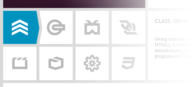 Symbole auf der W3C HTML5 Seite