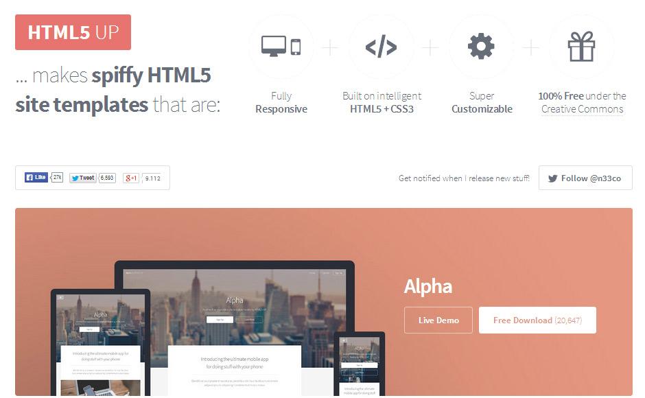 HTML5 UP Screenshot