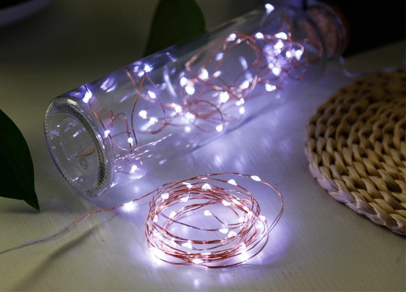 LED Lichterkette als Flaschenpost