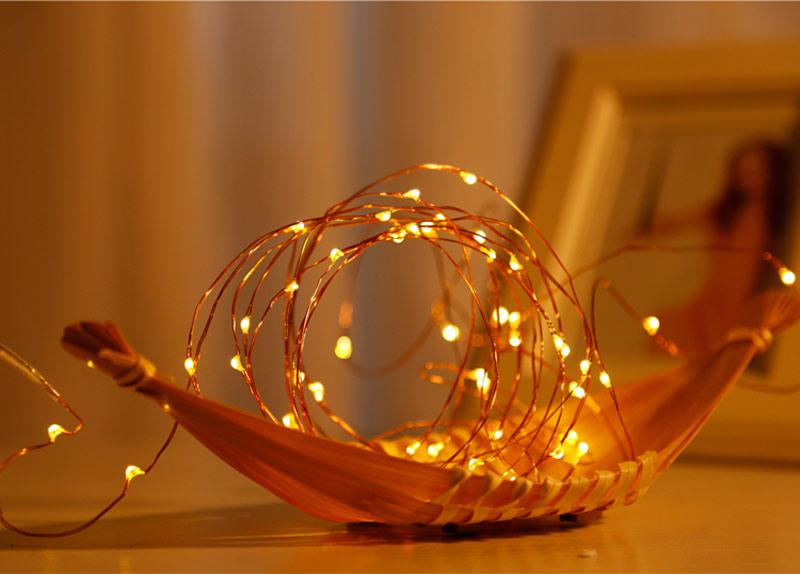 LED Lichterkette auf Schiffchen