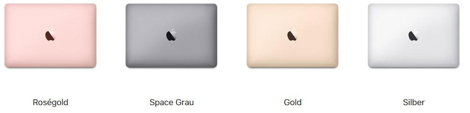 In diesen Farben ist 2017er Macbook 12 Zoll zu haben