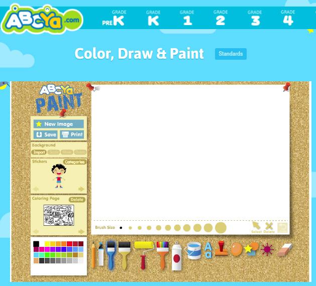 Online Mal Spiel Paint Go Kids