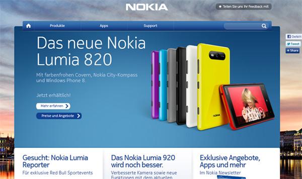 Nokia Website 2013