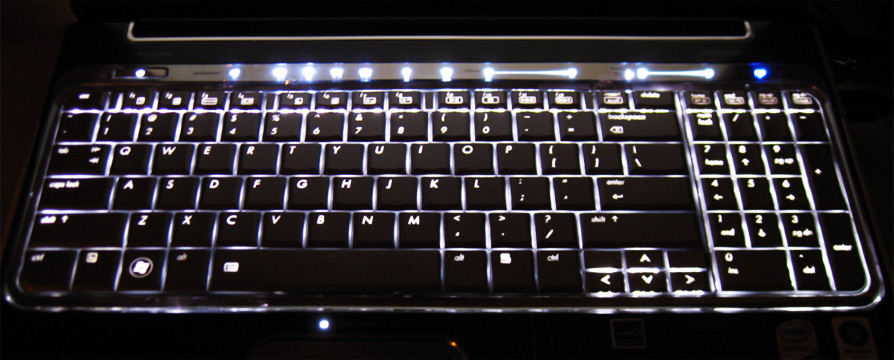 Notebook mit Tastaturbeleuchtung