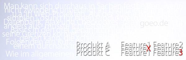 Produktvergleich mit Ajax & Co