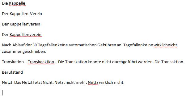 Rechtschreibprüfung in Microsoft Office Word