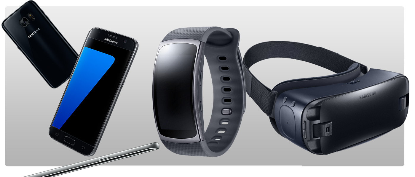 Samsung Bundle S7, Gear Fit 2 und Gear VR