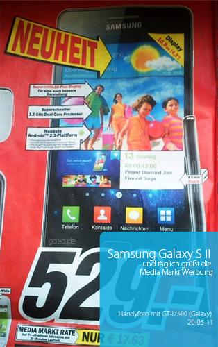 Samsung Galaxy S2 Werbung