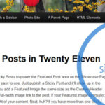 Sidebar Twenty Eleven Wordpress
