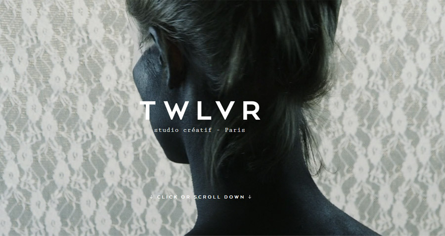 Screenshot Website  TWLVR a.k.a. The Twelve - Studio créatif