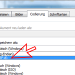 UTF8 in Word einstellen