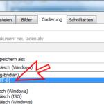 UTF8 in Word einstellen