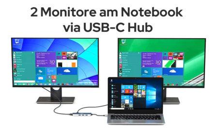 USB-C Hub für 2 Monitore