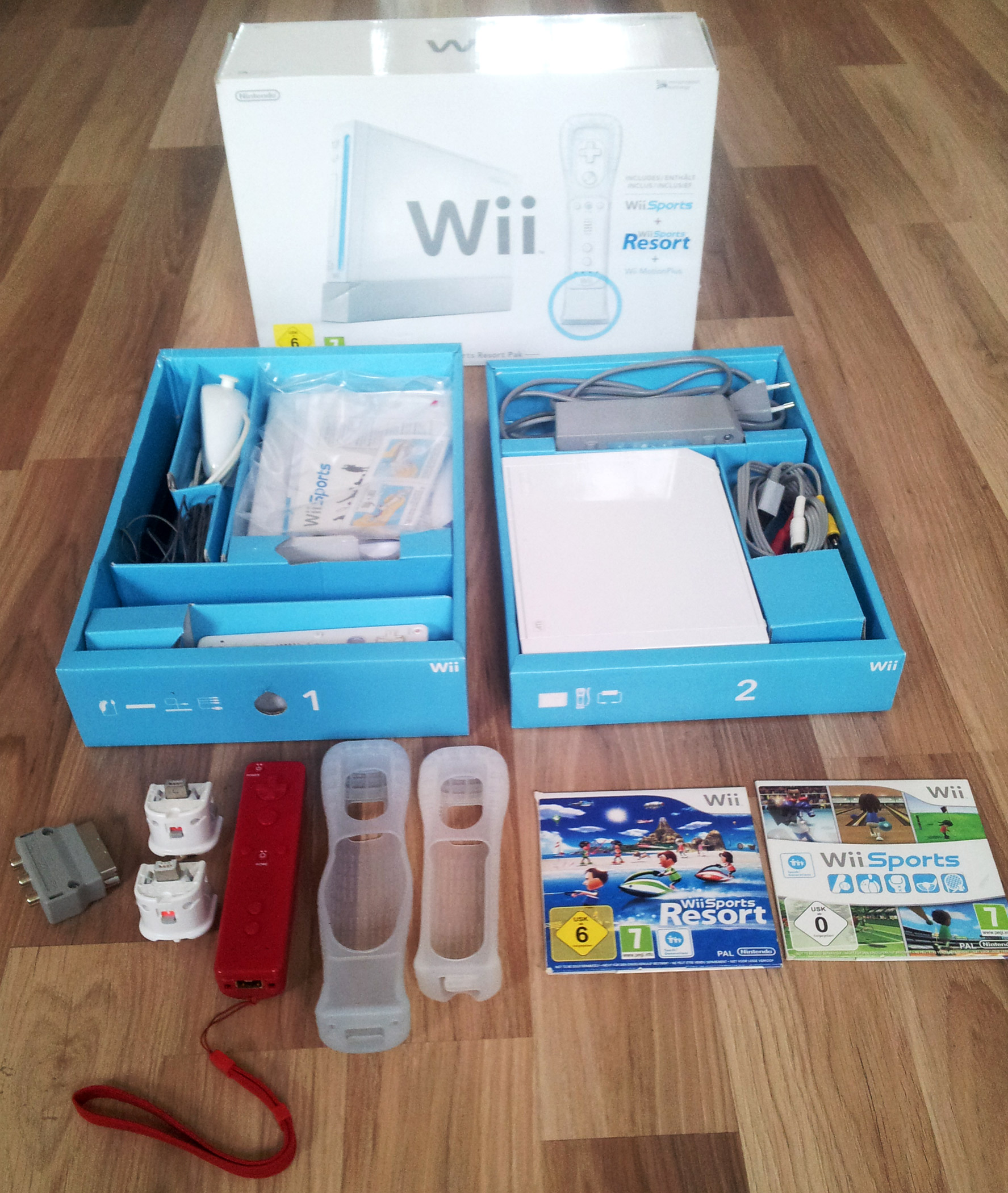 Wii Konsole mit Karton
