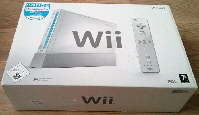 Wii Sports Konsole Verpackung
