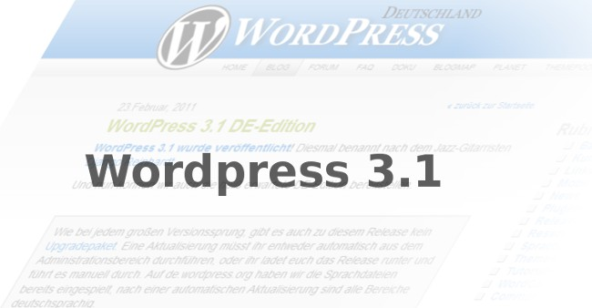 Wordpress 3.1 DE Version