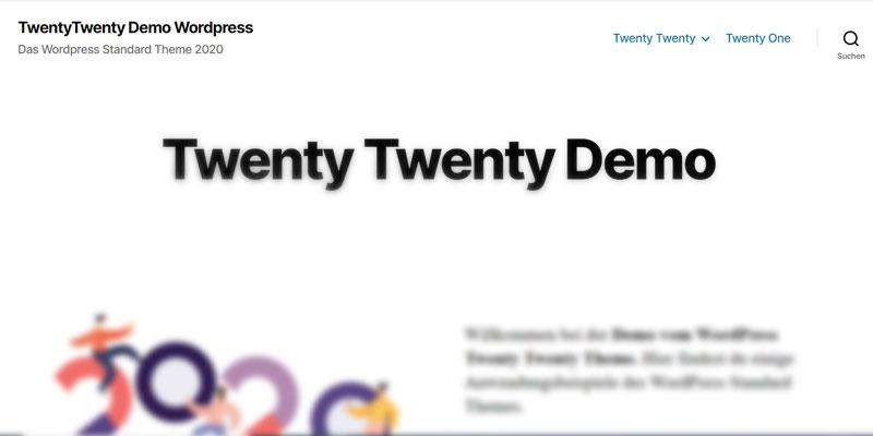 Wordpress Twenty Twenty